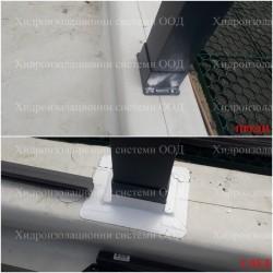 Обработка на перголи със самозалепваща лента RoofSeal и грунд